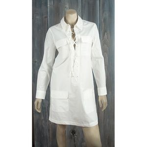 EQUIPMENT WHITE DRESS SZ XS